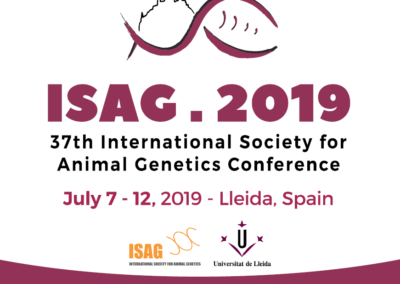 37th International Society for Animal Genetics Conference (ISAG 2019)